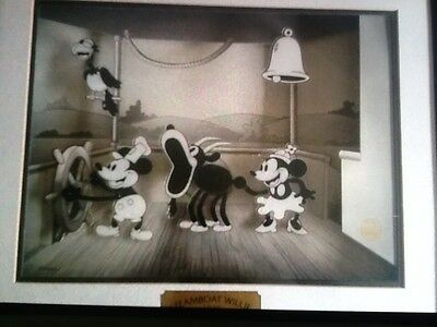 Disney STEAMBOAT WILLIE 1928  Animated Animations motion art  w/ COA 1970-Now