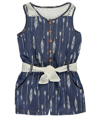 """Limited Too Little Girls' Toddler """"Feather Chambray"""" Romper (Sizes 4- 6X)"""
