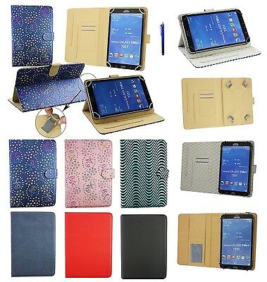 Universal7 - 8 Inch Pu Leather Wallet Cover Case for Various Tablets & Stylus