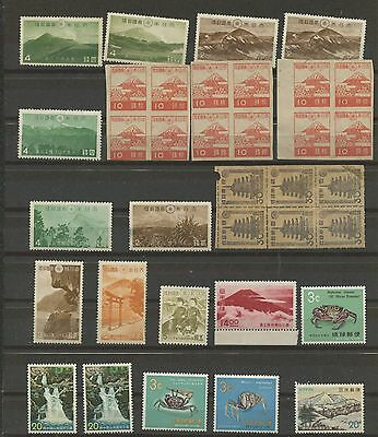 JAPAN--Accumulation of 57 stamps