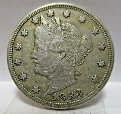 1883 5c Liberty Head Nickel With Cents