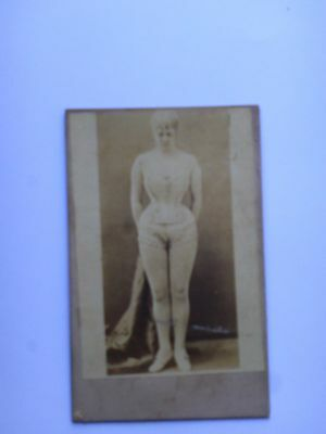 RISQUE GLAMOUR PHOTO 1870's     SMALL PHOTO ON CARD