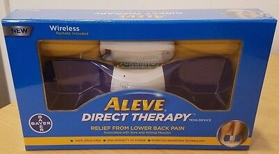 Aleve Direct Therapy Tens Device Bayer Wireless Remote New Sealed Free Shipping!