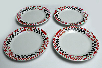 Coca Cola Set Of 4 Collectable Plates Dishes Nice!