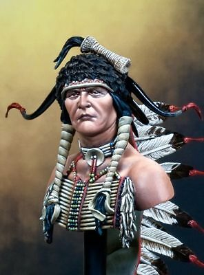 Pegaso Models 1:9 200mm Sioux Warrior American Indian Resin Bust Kit #200-021