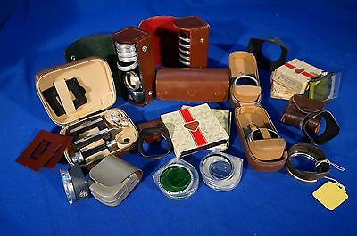 LOT of Rolleiflex Accessories, Hoods, Filters, Shades, etc #L076