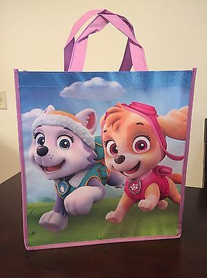 New Paw Patrol Nickelodeon Skye & Everest Lightweight Canvas Tote Bag Reusable