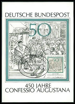 BUND MK 1980 CONFESSIO AUGUSTANA MARTIN LUTHER CARTE MAXIMUM CARD MC CM bi24