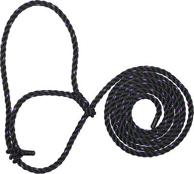 Black/Purple Sullivan's Cattle Rope Halter
