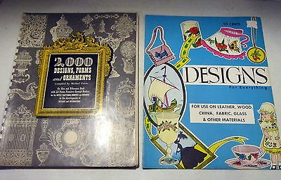 """1962 """"Designs for Everything"""" & 1947 """"2,000 Designs, Forms & Ornaments"""" books GC"""