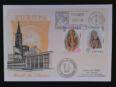 SPAIN MK 1974 EUROPA CEPT MAXIMUMKARTE CARTE MAXIMUM CARD MC CM c6620