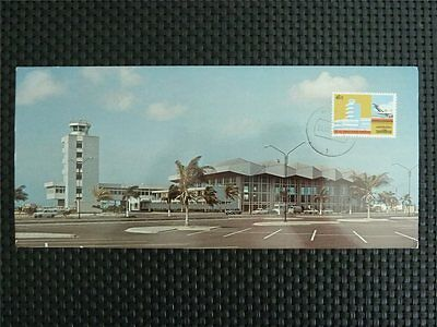 NEDERLANDSE ANTILLEN MK 1975 ARUBA AIRPORT PLANE CARTE MAXIMUM CARD MC z745