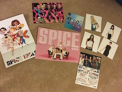 Spice Girls Job Lot Mini Posters Postcards Flyer Concert PlayStation Promos