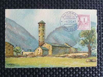 ANDORRA MK 1943 SANTA COLOMA MAXIMUMKARTE CARTE MAXIMUM CARD MC CM c4889