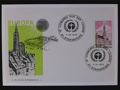 FRANKREICH MK 1973 EUROPA CEPT MAXIMUMKARTE CARTE MAXIMUM CARD MC CM c6935