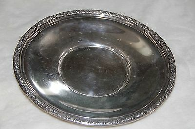 """Sterling Plate 9 1/2 inch Round 251 Grams Marked """"Alvin"""""""