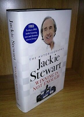 Jackie Stewart Winning is not enough 2007 *signed* 1st Edition