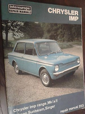Chrysler Imp Owners Workshop Manual