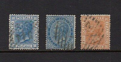Italy 1867-77 Definitives - Good Used - Sg 20-22 - High Cat £9
