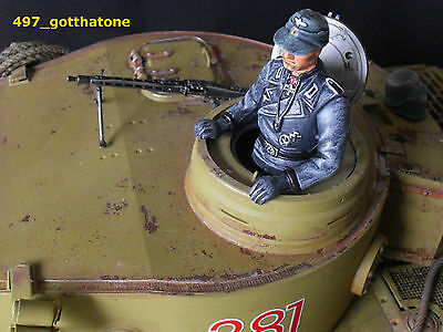 1/16 TANK COMMANDER PRO-PAINTED GERMAN HENG LONG. 120mm see pics.