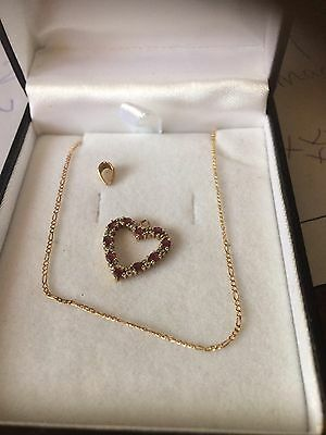 9ct gold necklace With Loveheart Pendant