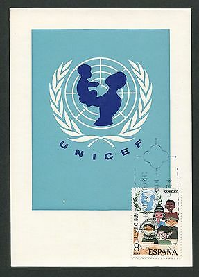 SPAIN MK 1971 UNICEF MAXIMUMKARTE CARTE MAXIMUM CARD MC CM d2499
