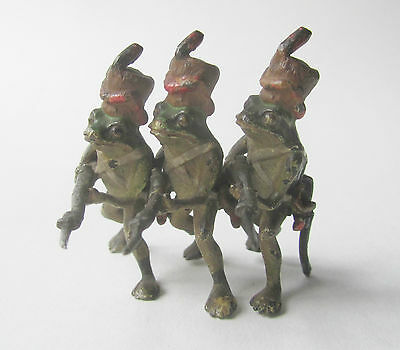Very rare Austrian cold painted soldier frogs c1900 Bergmann or similar