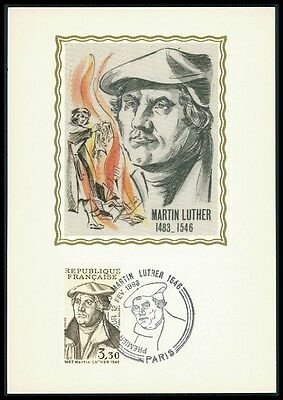 FRANCE  MK 1983 LUTHER KATECHISMUS MAXIMUMKARTE CARTE MAXIMUM CARD MC CM bf12