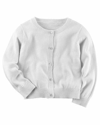 New Carter's Button Down Cardigan White NWT 2T 3T 4T 5T 6 6X 7 8 Girls Dress Up