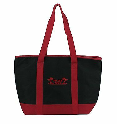 Trader Joes Extra Large Red & Black Insulated Shopping Bag