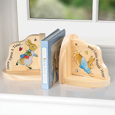 Peter Rabbit Wooden Bookends - For Baby Toddler Nursery
