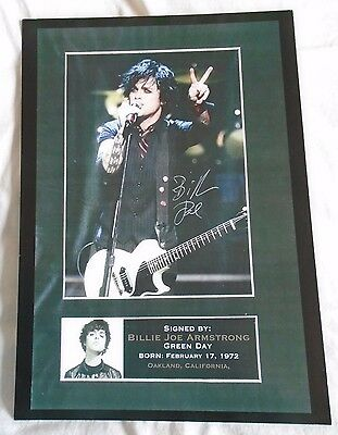 Green Day A4 Print Signed by Lead Singer Billie Joe Armstrong 1 week only sale
