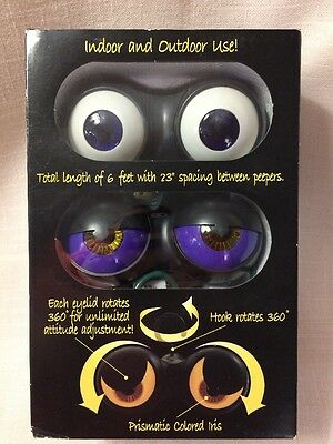 New Peep n' Peepers Flashing Eyes Halloween Lights NIP $14.99 Retail!