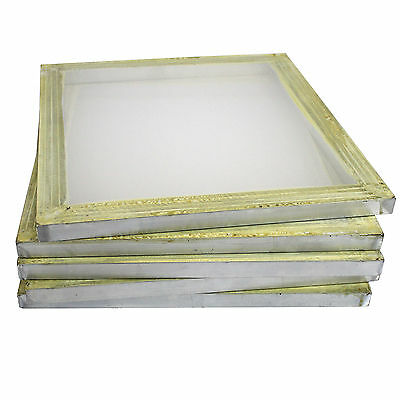 "6 Aluminum Silk Screen Printing Press Screens 110 Frame Mesh 18"" x 20"""