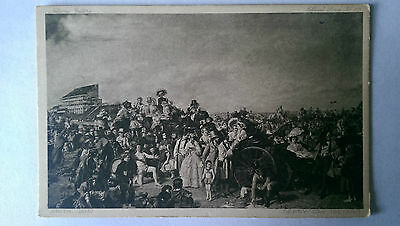 William Frith Derby Day National Gallery Vintage B&W c1930s postcard