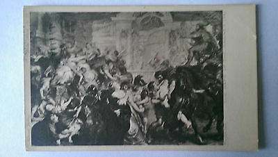 Rubens The Rape of the Sabines National Gallery Vintage B&W 1936 postcard
