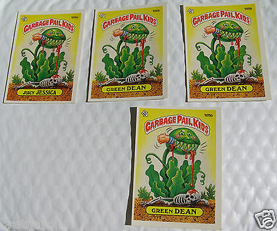 Juicy JESSICA 105a and Green DEAN 105b Garbage Pail Kids 1986 Series 3 Topps Lot