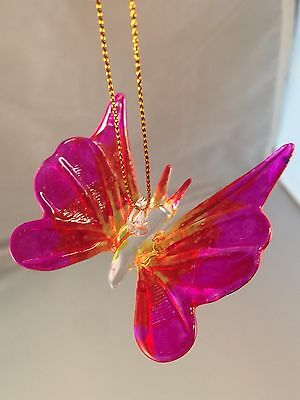 Glass Butter Fly Hanging Handmade Glass Collectible Item 1020