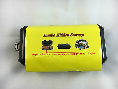 Large Hidden Storage Magnets stick to bottom of car Stash Compartment