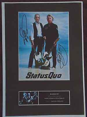 Signed A4 Print of  Status Quo, Francis Rossi & Rick Parfitt 1 week only sale