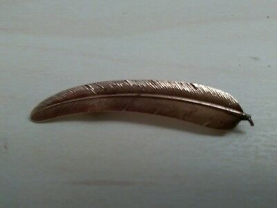14k gold feather brooch