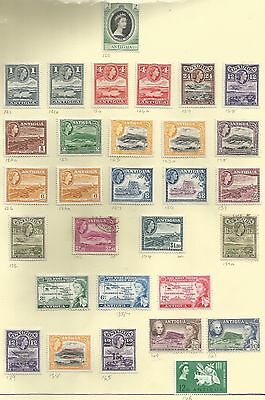 ANTIGUA BET SG120a-146  1953-63 QE2 SETS  ON ALBUM PAGE