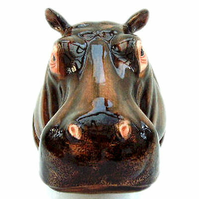 QUAIL CERAMIC Hippo Wall Pocket or Vase - NEW and unique!