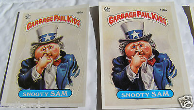 Snooty SAM 110a Garbage Pail Kids Series 3  Two variations Topps Lot of 3 ERROR