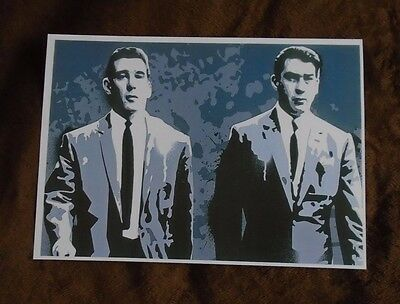 Kray Twins Ronnie and Reggie (Contemporary Depiction) A4 PRINT 1 week only sale