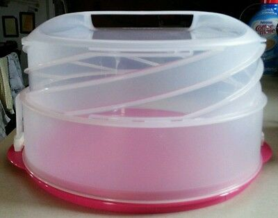 Tupperware Collapsible Pink Cake Taker