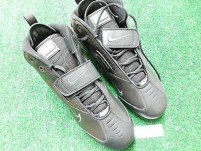 Nike Open Field 3/4 Cleats Shoes Black/Black 11.5 Medium New
