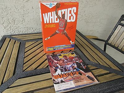 1st Edition  Michael Jordan Wheaties box - 18 OZ.  sealed  unopened + AUTOGRAPH