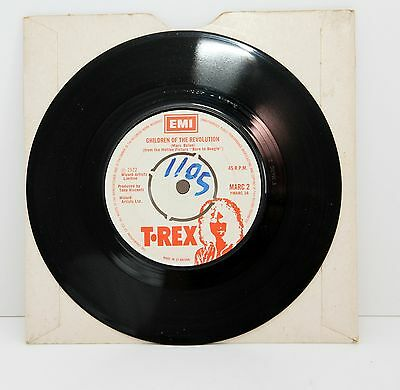 "MARC BOLAN*T.REX Children of the Revolution 1972 UK EMI 7"" 45 R.P.M"