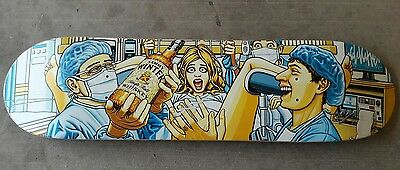 Rare NOS Sammy Winter Cliche Skateboard with art by Marc McKee �� natas Cliver